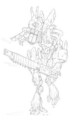edouardguiton.com | AT-43 | Edouard Guiton Cool Sketches, Drawing Sketches, Sketching, Character Drawing, Character Concept, Coloring Books, Coloring Pages, Cyberpunk, Tech Art