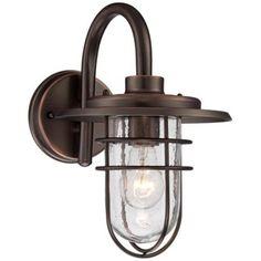 """John Timberland Ellison 12 3/4""""H Bronze Outdoor Wall Light"""