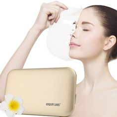 KINGDOMCARES Valentines Day Gifts Electric Mask Heater Essence Facial Mask Pure Natural Face Mask Facial Treatment Wrinkles Acne Scars Blackheads Cellulite Ultimate Spa Quality Skin Care Golden ** Learn more by visiting the image link. (Note:Amazon affiliate link)