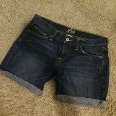 Lucky denim shorts Longer cut off denim shorts! Lucky Brand Shorts Jean Shorts