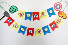 Superhero Themed Birthday Banner/ Marvel by Pleasantviewparties