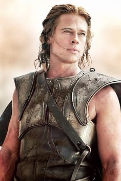 "Brad Pitt in Troy! My grand-daughter used to call him ""Hot-Pitt"". Troy Movie, I Movie, Movie Stars, Jennifer Aniston, Eric Bana, Julie Christie, Brat Pitt, Gorgeous Men, Beautiful People"