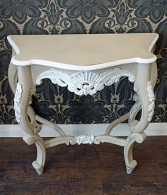 Carved table. #ChalkPaint Country Grey & Old White. SOLD