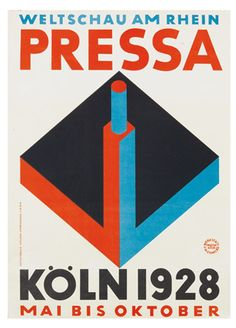 Poster for the Pressa exhibition in Cologne, 1928