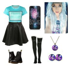 """""""Untitled #234"""" by awakard-jedi-turtle ❤ liked on Polyvore featuring Pilot and Dr. Martens"""