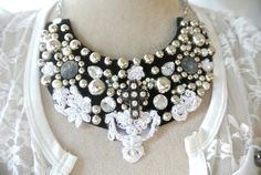 Bib necklace lace cross gypsy cowgirl glam by TrueRebelClothing, $62.00