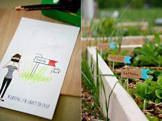 ADORABLE. Garden markers! Via ashleyannphotography.com