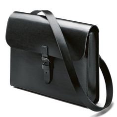 Leather shoulder bag by Manufactum...simple and gorgeous.