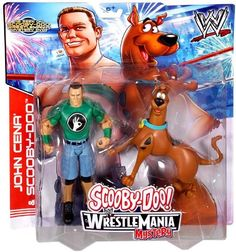 Amazon.com: Mattel WWE Wrestling Scooby-Doo WrestleMania Mystery Action Figure 2-Pack John Cena & Scooby-Doo: Toys & Games