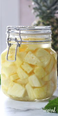 Pineapple Infused Rum - made at home! Fun and delicious.