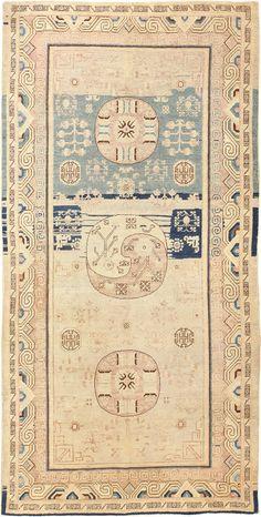 Beautiful Yin Yang Design Antique Khotan Rug 48841