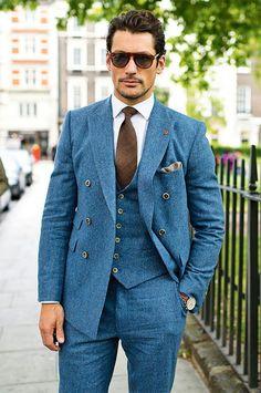 Three piece suit is back.  British fashion is high @GQ Magazine.