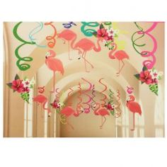 Flamingo Hanging Swirls -  Party Supplies, Ideas, Accessories, Decorations, Games - PartyNet