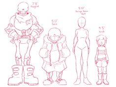 Why yes I like these head canon heights Undertale Love, Undertale Ships, Undertale Fanart, Undertale Comic, Frisk, Drawing Poses, Manga Drawing, Base Anime, Art Sketches