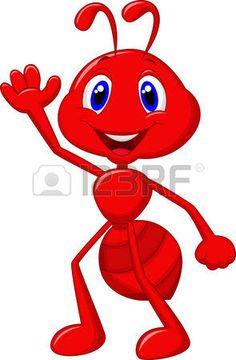 Illustration of Cute ant cartoon waving vector art, clipart and stock vectors. Cartoon Kunst, Cartoon Drawings, Animal Drawings, Cartoon Art, Art Drawings For Kids, Drawing For Kids, Painting Patterns, Fabric Painting, Clip Art