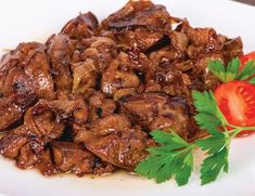 Chicken Liver With Onion Lunch Recipes, New Recipes, Cooking Recipes, Good Food, Yummy Food, Tasty, European Dishes, Greek Recipes, Diy Food