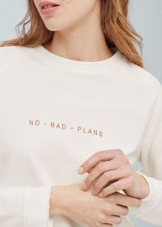 Mixed cotton sweatshirt | MANGO