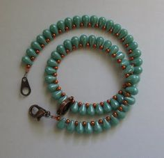 Love the use of copper & turquoise.