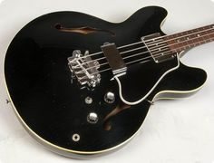 REF# 00320. Very, Very Rare and Super Clean...!!! Super Rare 1966 BLACK Gibson EB-2 Bass. One original owner. Original hard shell case. One of three made...!!! Superb quality, construction,