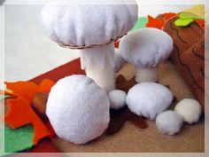A gombák földjén- asztal dísz, Otthon, lakberendezés, Dekoráció, Dísz, Ünnepi dekoráció, Meska Paper Board
