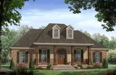 HOUSE PLAN 348-00186 – Beautiful French Country exterior features warm detailing and the accompanying virtual tour of the home offers an alternative exterior and great tips for updated detailing. The interior of the home is highlighted with approximately 2,200 square feet, four bedrooms and two plus baths.
