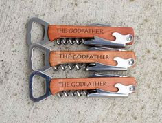 The Godfather Godfather Gift Personalized by RusticSquare on Etsy