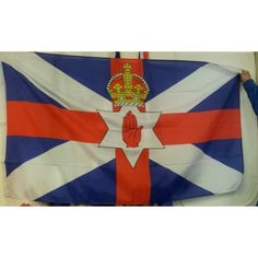 Ulster Scotland hands across the water Flag