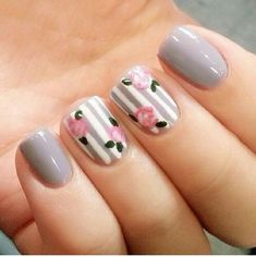 Try out something different for every one of your nails and you will be surprised. You may also customize your nails a lot simpler. In the event the nail is short it is far better to go for a design acceptable for that nail. Fake nails may also have art. Toe Nails, Pink Nails, Nailart, Floral Nail Art, Gray Nail Art, Flower Nails, Nail Swag, Trendy Nails, Nails Inspiration