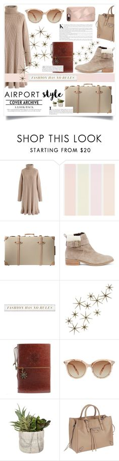 """""""Airport Style --- Fly Higher"""" by gitansafitri ❤ liked on Polyvore featuring Chicwish, Sole Society, Global Views, Victoria Beckham, Balenciaga, Rebecca Minkoff and airportstyle"""