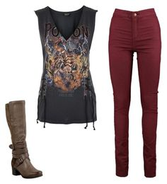 """rock outfit"" by mursitsanna on Polyvore featuring Topshop and Miz Mooz"