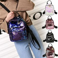 a792a0a875 OCARDIAN Women s Shinning Glitter Bling Backpack Preppy Style Sequins  Travel Satchel backpack mochilas mujer 2018 A