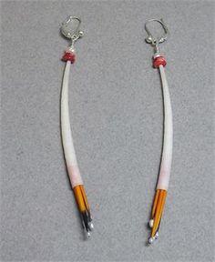 Native American style Peyote Stitch Dentalium & Abalone