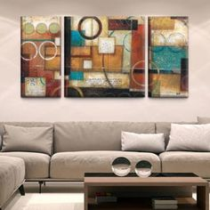 Shop for Studio 212 'Circumstance' 30x60 Triptych Textured Canvas Wall Art. Ships To Canada at Overstock.ca - Your Online Art Gallery Store!  - 17410416