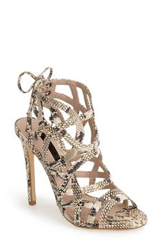 Wearing these fierce Topshop snake-embossed strappy sandals on the next girls' night out.