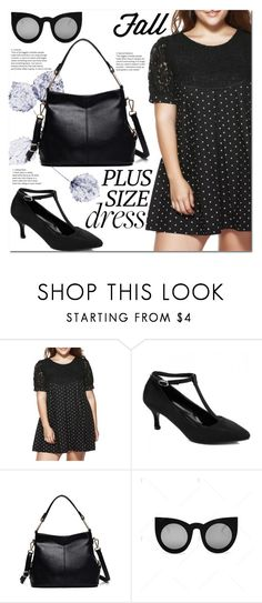 """""""Fall Look: Plus Size Dresses"""" by jecakns ❤ liked on Polyvore featuring outfit, dress, plussize and fallfashion"""