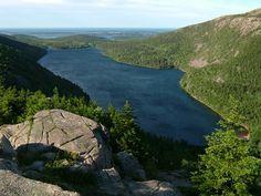 Jordan pond (from North Bubble) - Acadia National Park, Bar Harbor, Maine