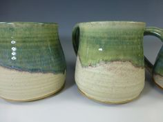 Handmade Wheel Thrown Pottery River Flow Glazed Mug Large Select Size Only One in Each Size on Etsy, $24.00