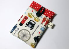 Fabric iPhone sleeve iPhone case iPhone pouch by Enchantingcrafts, £8.50