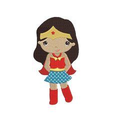 Looks like Wonder Woman Super Girl Hero hands by EmbroideryMonkey, $2.95