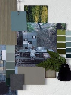 Design Mood board - Moodboard - Loods 5 styling See more inspirations at… Mood Board Interior, Interior Design Boards, Visual Story, Interior Design Presentation, Material Board, Diy Home Decor Projects, Colour Board, Colour Schemes, Color Trends