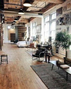 What a stunning open concept loft ❤️