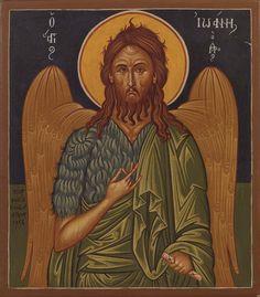 Άγιος Ιωάννης ο Πρόδρομος (1956) Byzantine Icons, Orthodox Icons, Holy Spirit, Saints, Drawings, Artwork, Painting, Style, Holy Ghost