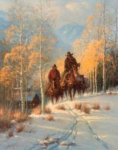Harvey, Through the Golden Aspens, oil, 30 x 24. Estimate: $50,000 ...