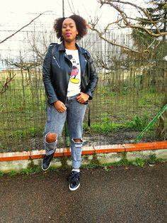 [On lit] Fashion:perfecto & sweat mickey  - Dressing de serdee @dressinggirly31