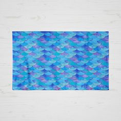 Throw Rug Area Rug Blue Mist Mermaid Scales (€45) ❤ liked on Polyvore featuring home, rugs, floor & rugs, home & living, light purple, machine washable rugs, blue rug, weave rug, zig zag rug and polyester rugs