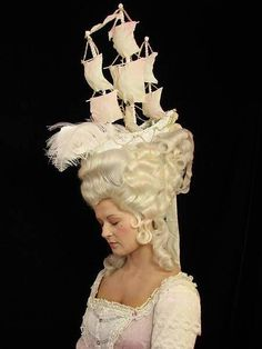 Fripperies and Fobs — Reproduction historical hairstyles from the… - Historical Fashion Headdress, Headpiece, Historical Hairstyles, Flapper, 18th Century Fashion, 16th Century, Rococo Fashion, Rococo Style, Rose Hair