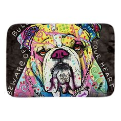 Bulldog Series Door Mats - Dean Russo Art