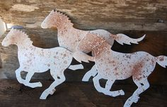 Recycled  Metal Western Horse Wall Decor by happybdaytome on Etsy, $14.95