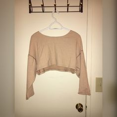 American Apparel cropped sweater Super cute cropped sweater! Only worn once!  WARNING this sweater is super short on people with big breast! I am a C cup and found it super short when I raised my arms. American Apparel Sweaters