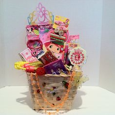 Dream Basket for that pretty girl that you love so much (Ages 4 to Strawberry Short Cake Big Fun Book To Color Jump Rope Strawberry Hair Brush Strawberry Hair Accessories Disney Crayon Gummy Band Candy Light -up Ring Ice Cre. Strawberry Hair, Strawberry Shortcake, Candy Bracelet, Easter Gift Baskets, Birthday Gifts For Kids, Short Cake, Unique Gifts, Christmas Gifts, Hair Brush
